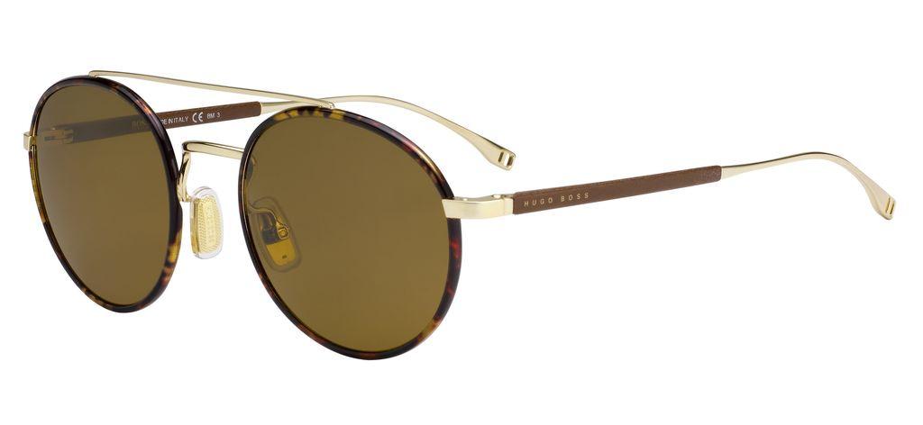 Очки солнцезащитные мужские Hugo Boss, HUB-282044J5G55HK, золотой