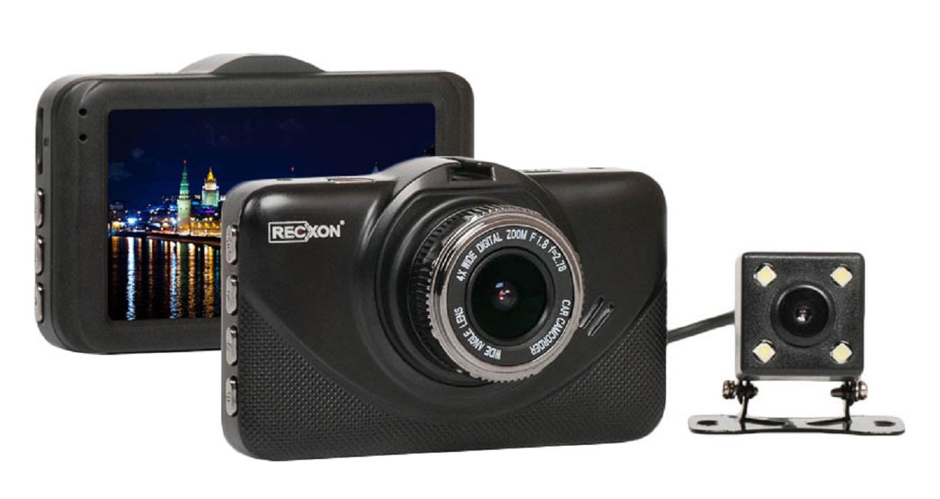 Видеорегистратор RECXON QX4, черный программа видеозаписи с веб камеры