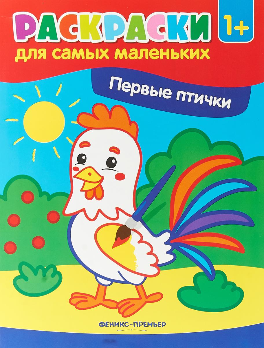 Первые птички. Книжка-раскраска