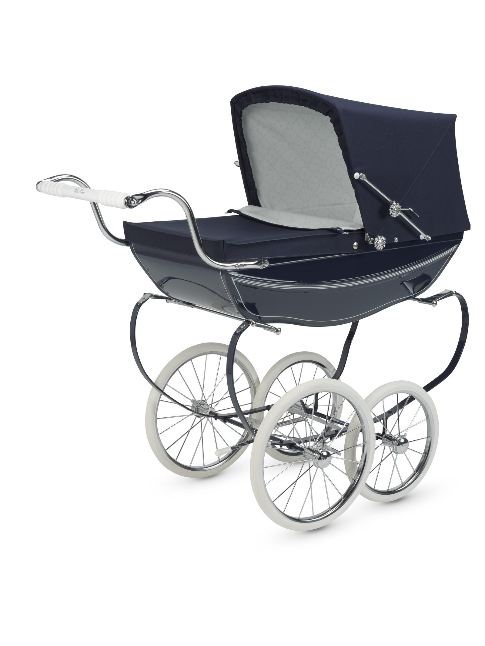 коляска для кукол Silver Cross Oberon темно-синий цена 2017