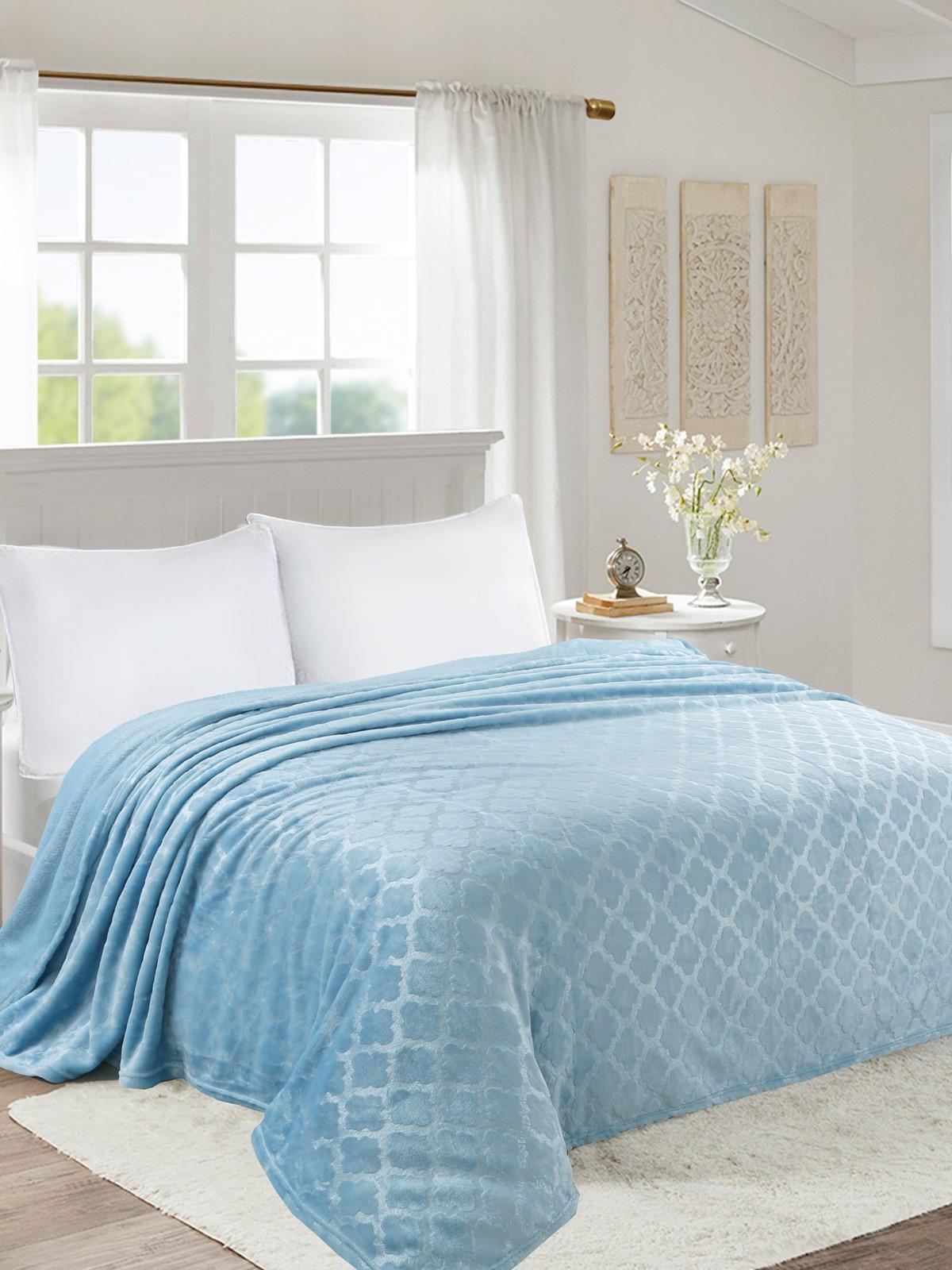 Плед world textile ВОРД-Евро006-0 голубой плед sl плед sabrina 200х220 см