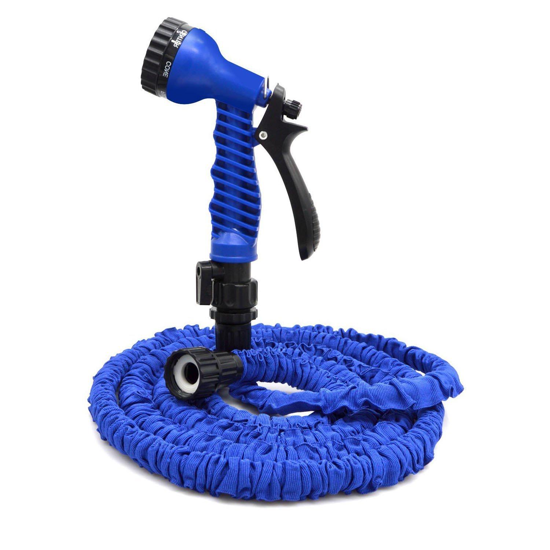 Шланг поливочный Шланг 15 м. для полива растягивающийся, синий gess шланг для полива саморастягивающийся gusse 2 5 метра удлиняется до 7 5