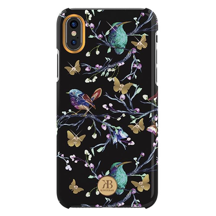 Чехол для сотового телефона Kingxbar Magpie, черный, золотой, бирюзовый