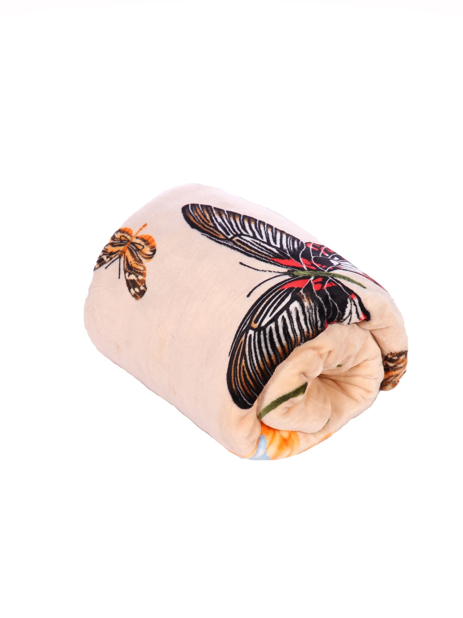 Плед world textile ВОРД-1,5сп008-10-3-0, бежевый, оранжевый, зеленый цена