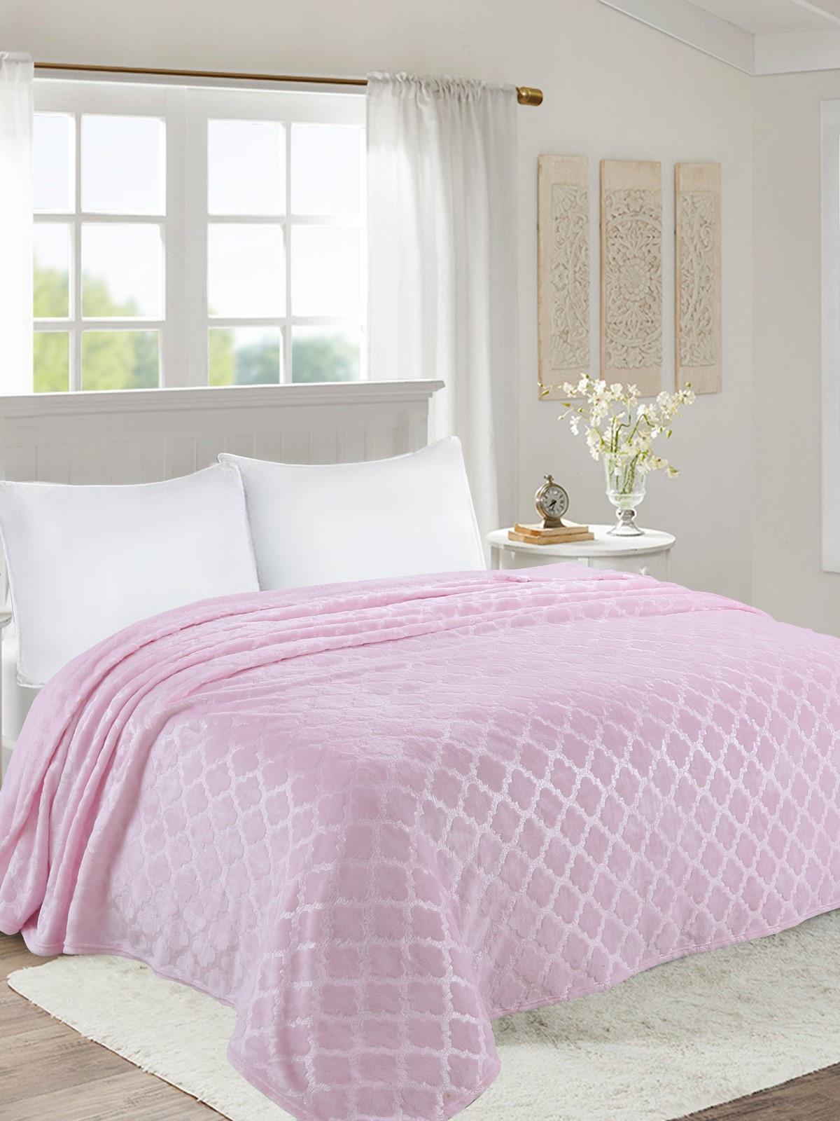 Плед world textile ВОРД-2,0сп011-0, розовый цена