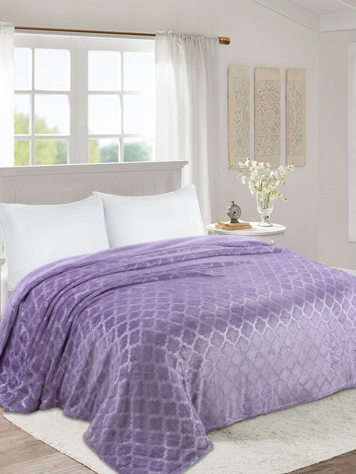 Плед world textile ВОРД-1,5сп038-0, сиреневый цена