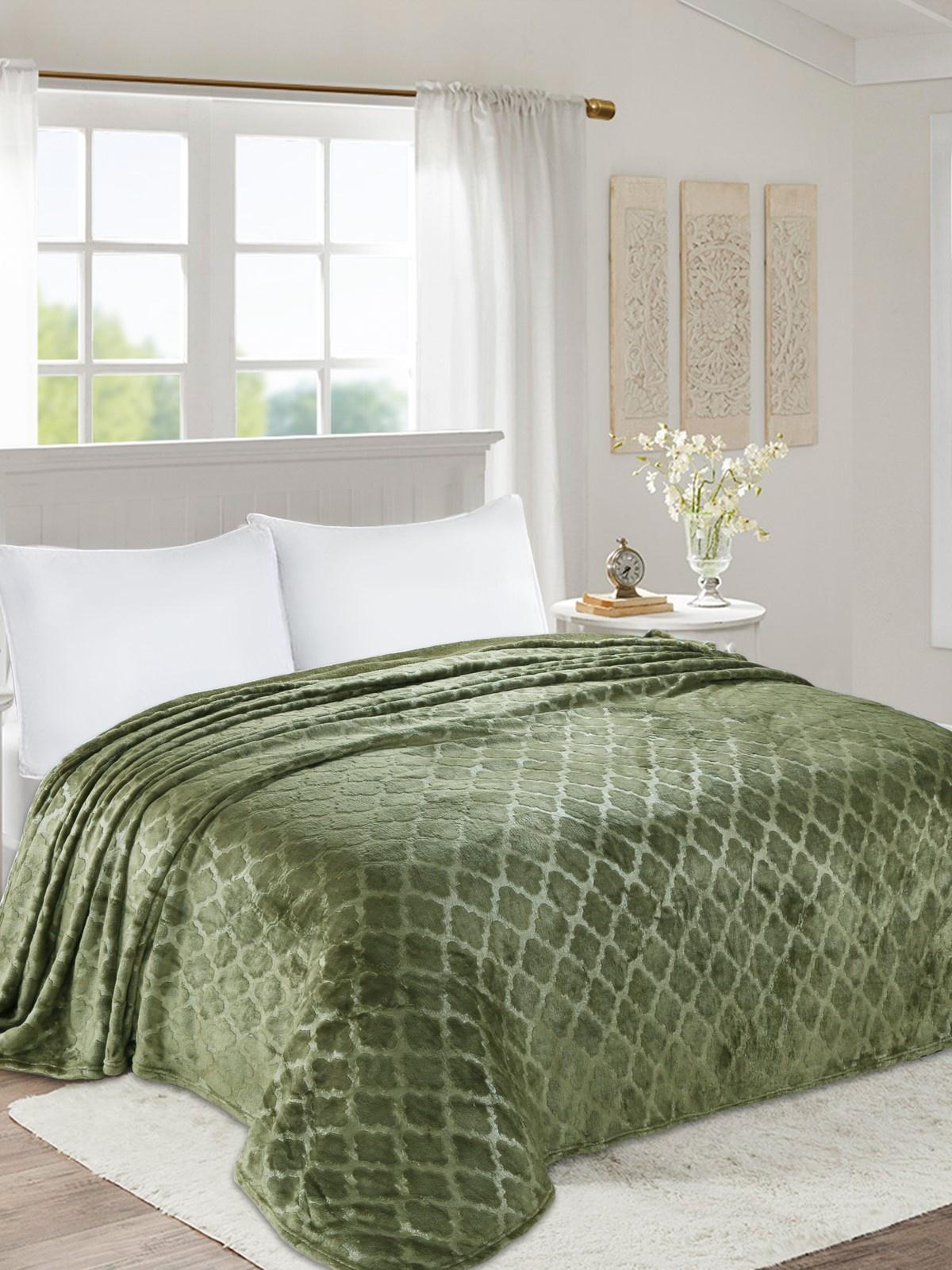 Плед world textile ВОРД-1,5сп003-0, зеленый цена