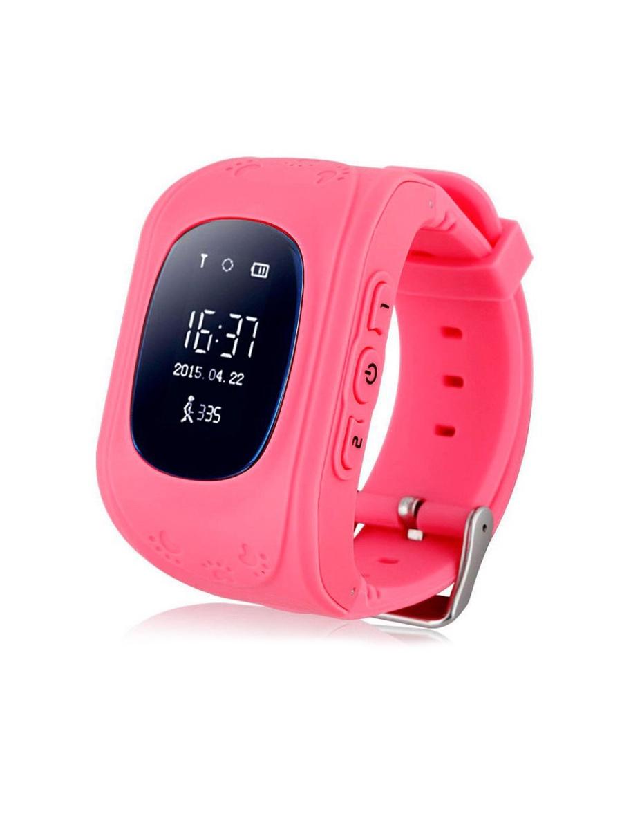 Детские смарт часы-телефон кнопочные (с gps) Wokka Watch Q50, розовый детские часы wonlex q50 милитари зеленые