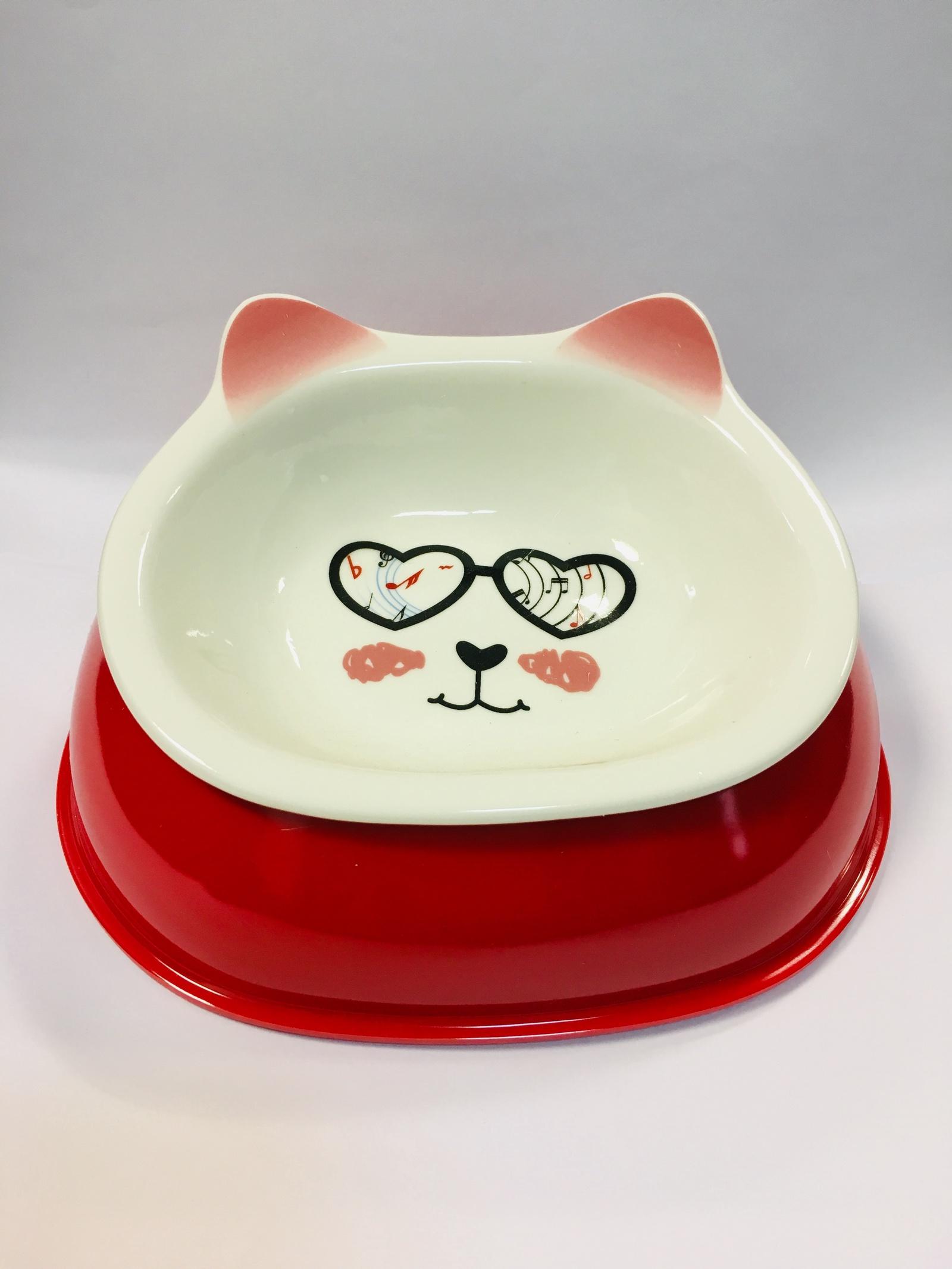 Миска для животных Pug & Pets, керамическая, на подставке top pets store 353101 201