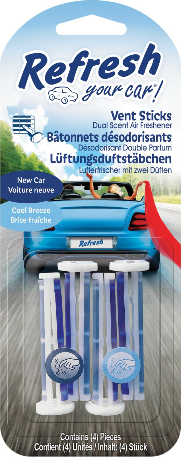 Освежитель воздуха автомобильный Refresh Your Car! C1, E301408700, 19 x 7,5 x 2,2 см, 4 шт