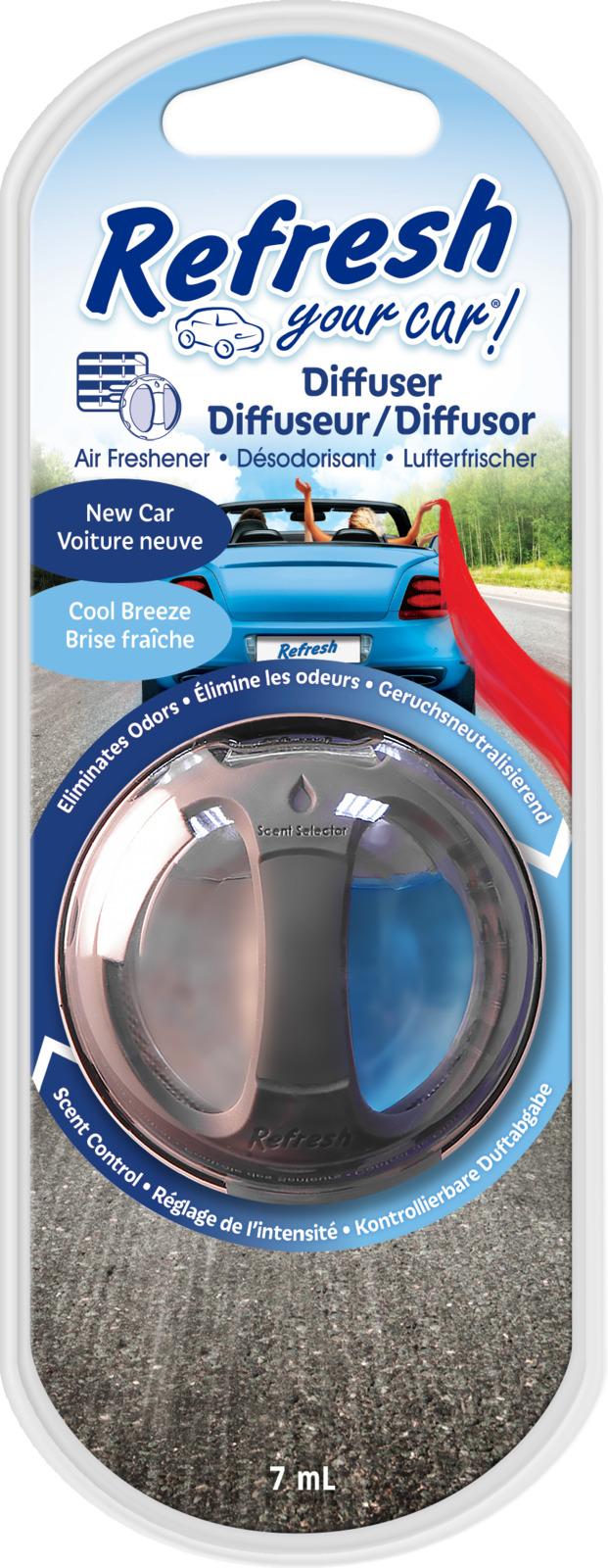 Освежитель воздуха автомобильный Refresh Your Car! Новая машина/Прохладный бриз, E301410500, 19,7 x 8,5 x 2,5 см
