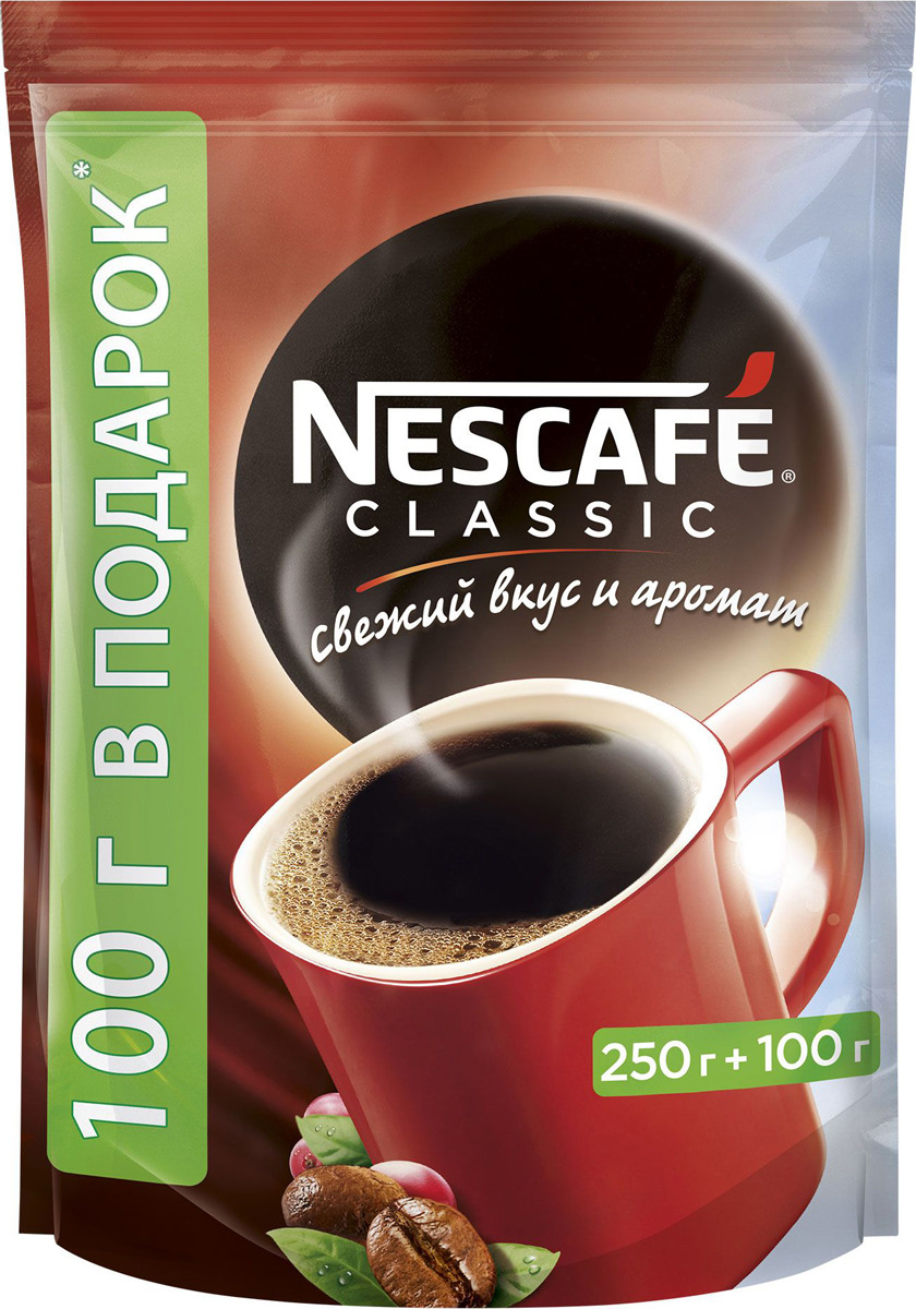 Кофе растворимый Nescafe Classic, 350 г