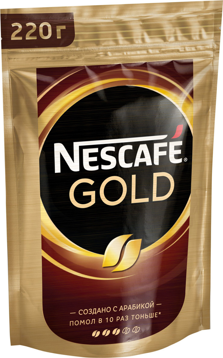 Кофе растворимый Nescafe Gold, 220 г