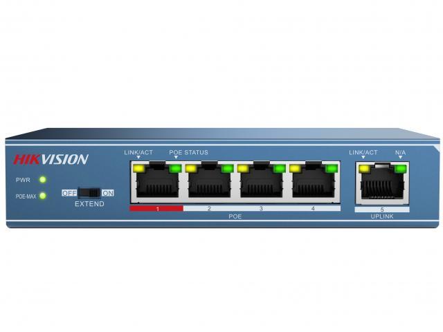 Коммутатор HIKVISION POE СDS-3E0105P-E
