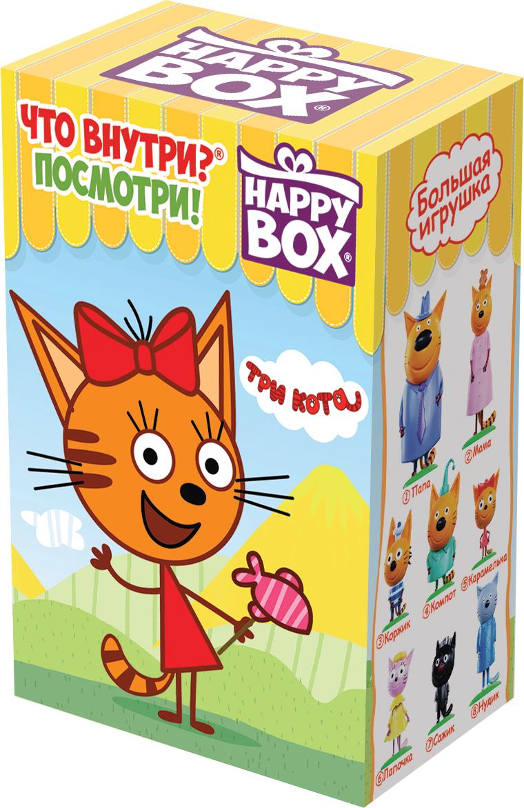 Набор Сладкая Сказка Happy Box Три Кота Карамель фруктовая, 18 г + Фигурка леденцы с игрушкой happy box три кота 18 г
