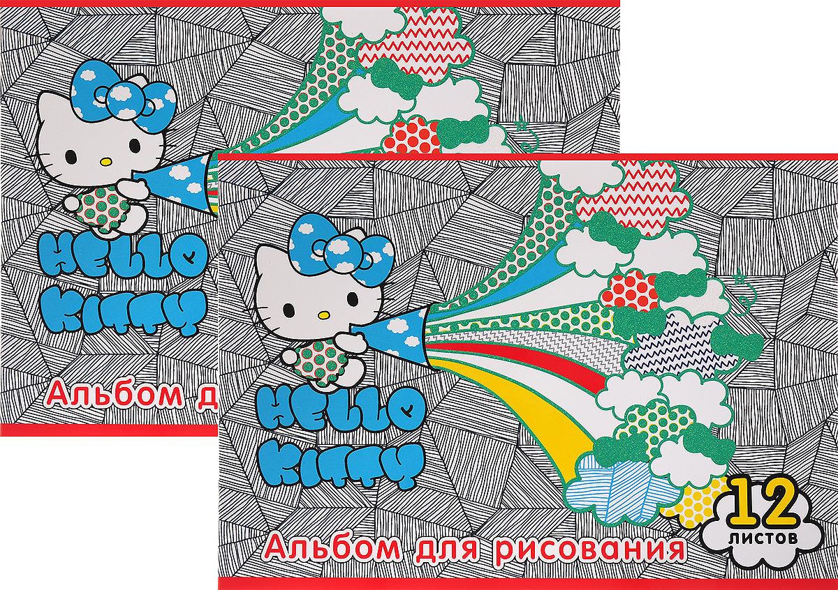 Набор альбомов для рисования Action! Hello Kitty, HKO-AA-12-4/2, 12 листов, 2 шт цена и фото
