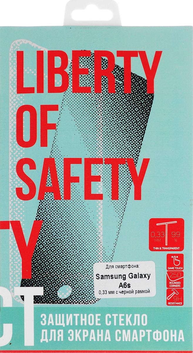 Защитное стекло Liberty Project Tempered Glass для Samsung Galaxy A6s, с рамкой, черный защитное стекло smartbuy sbtg 3d0013 для samsung galaxy s8 3d 0 33 мм полное покрытие экрана с рамкой черный