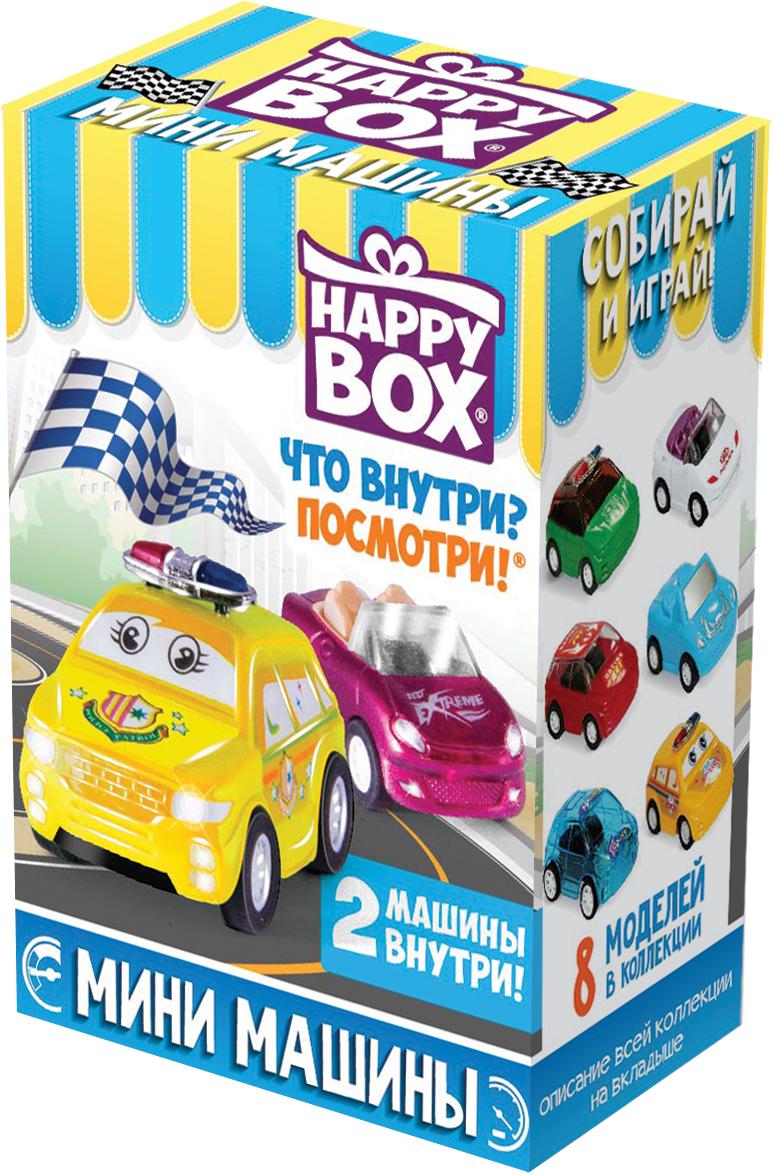 Набор Сладкая Сказка Happy Box Мини машины Карамель, 18 г + Игрушка сладкая сказка снегурочка синий подарочный шар карамель магнит 18 г
