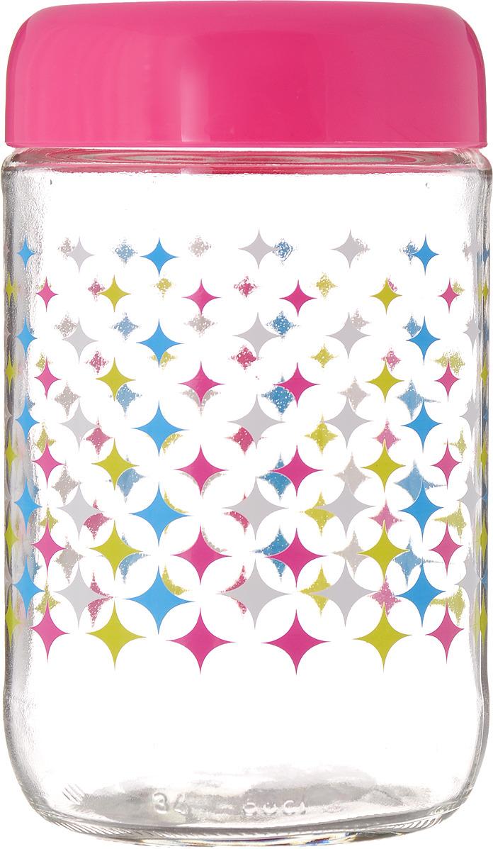 Банка для сыпучих продуктов Mayer & Boch, 80525, прозрачный, розовый, 660 мл банка для сыпучих продуктов herevin цвет светло розовый прозрачный 660 мл 140367 500