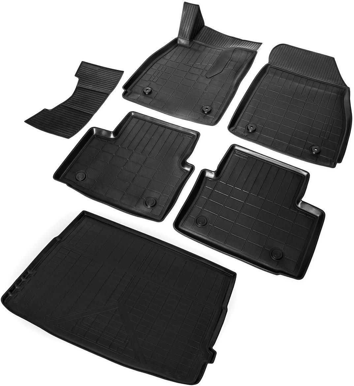 цена на Комплект ковриков салона и багажника Rival для Opel Insignia I седан (багажник с органайзером) 2008-2017, полиуретан, с крепежом, с перемычкой, 6 шт. K14204002-1