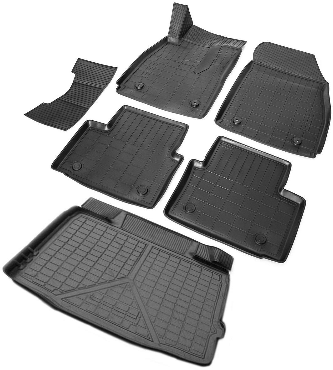 цена на Комплект ковриков салона и багажника Rival для Opel Insignia I седан (багажник без органайзера) 2008-2017, полиуретан, с крепежом, с перемычкой, 6 шт. K14204003-1
