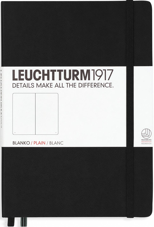 Записная книжка Leuchtturm1917, 311333, черный, A5 (148 x 210 мм), без разметки, 126 листов