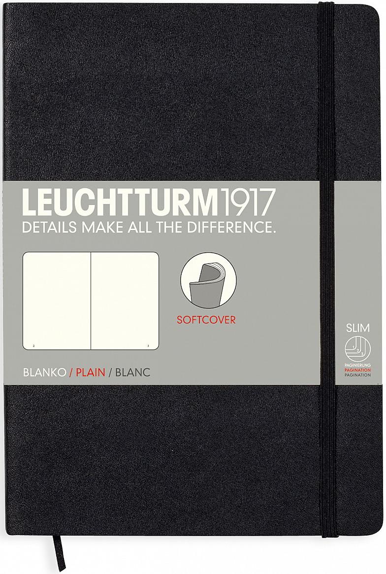 Записная книжка Leuchtturm1917, 318651, черный, A5 (148 x 210 мм), без разметки, 61 лист