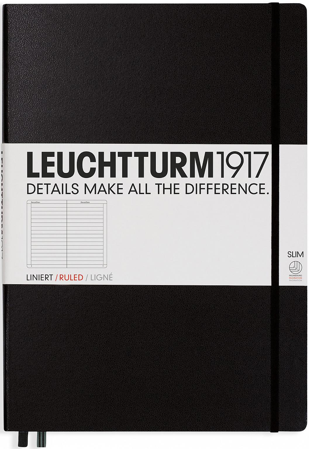 Записная книжка Leuchtturm1917, 334917, черный, A4+, в точку, 60 листов