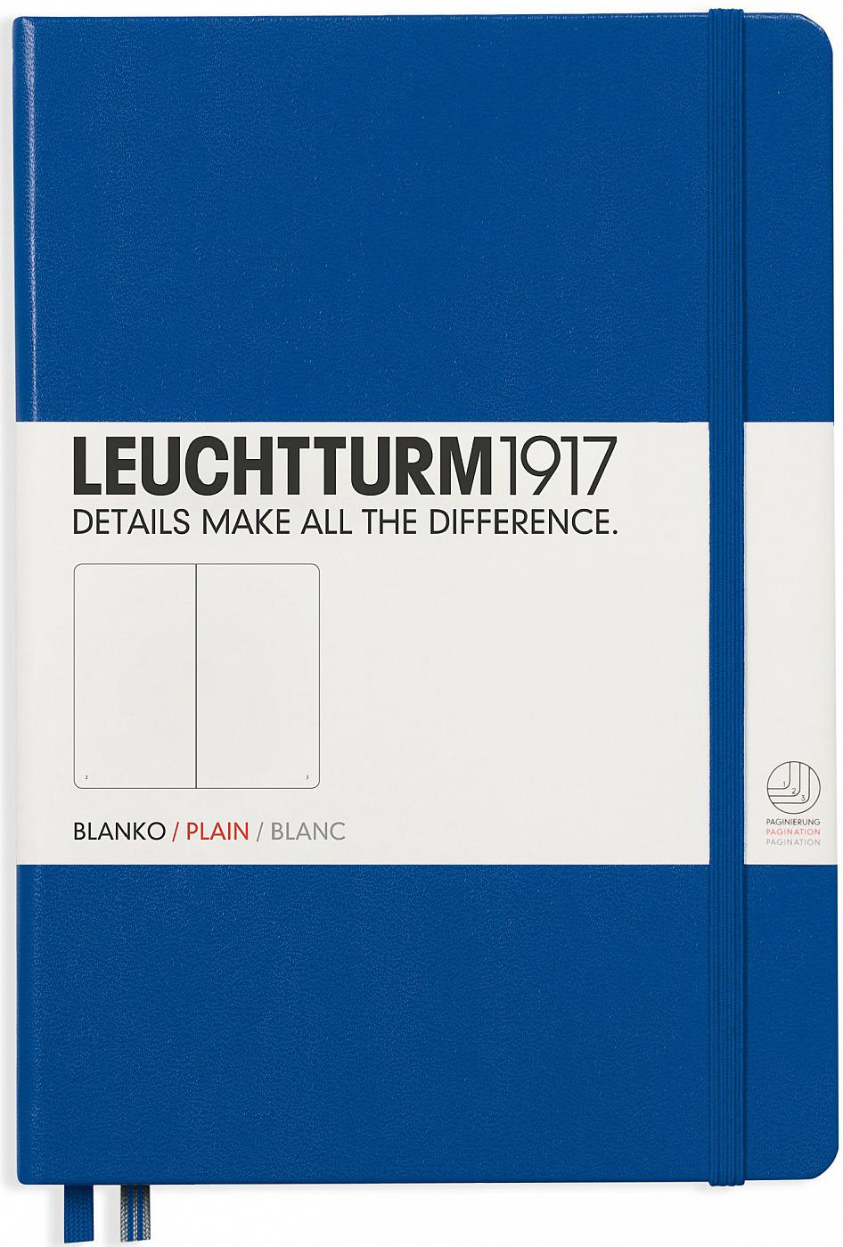 Записная книжка Leuchtturm1917, 342705, синий, A5 (148 x 210 мм), без разметки, 126 листов