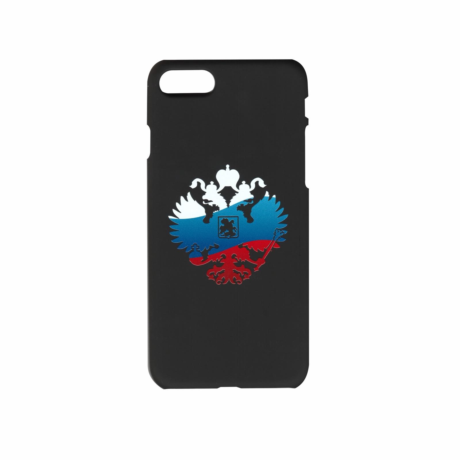 Чехол для сотового телефона IQ Format пластиковый для iPhone 7 и 8, Символика, белый, красный, синий, черный чехол накладка dbramante1928 london для iphone 8 7 6s 6 материал натуральная кожа пластик цвет черный