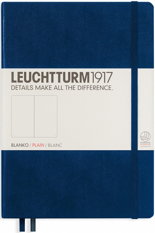 Записная книжка Leuchtturm1917, 342924, темно-синий, A5 (148 x 210 мм), без разметки, 126 листов