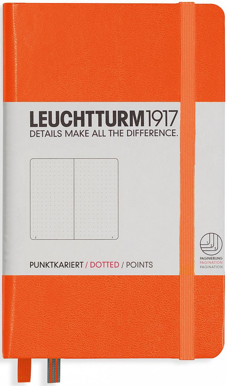 Записная книжка Leuchtturm1917, 342933, оранжевый, A6 (105 x 148 мм), в точку, 92 листа