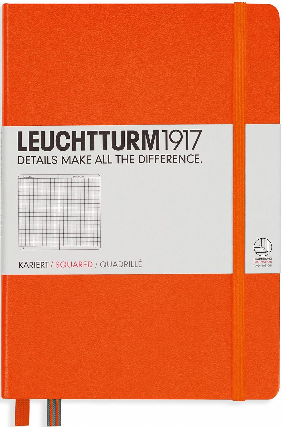 Записная книжка Leuchtturm1917, 342935, оранжевый, A5 (148 x 210 мм), в точку, 125 листов