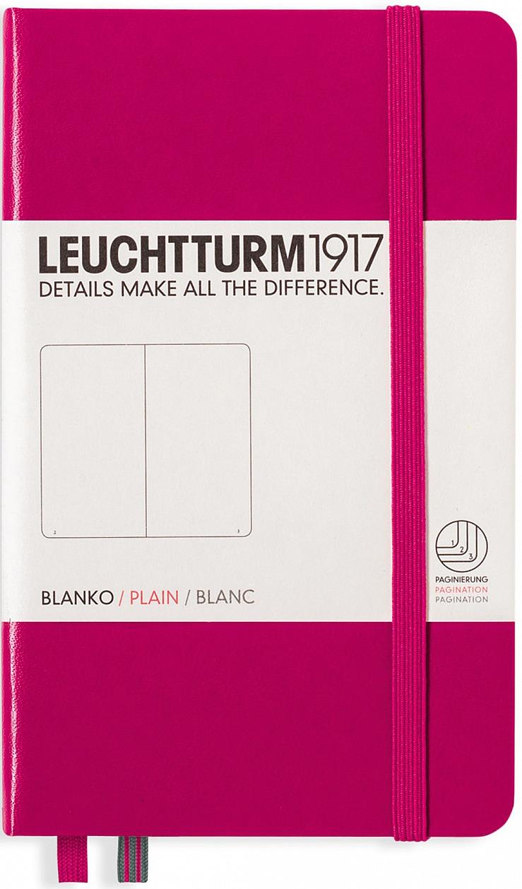 Записная книжка Leuchtturm1917, 344806, фуксия, A6 (105 x 148 мм), без разметки, 92 листа