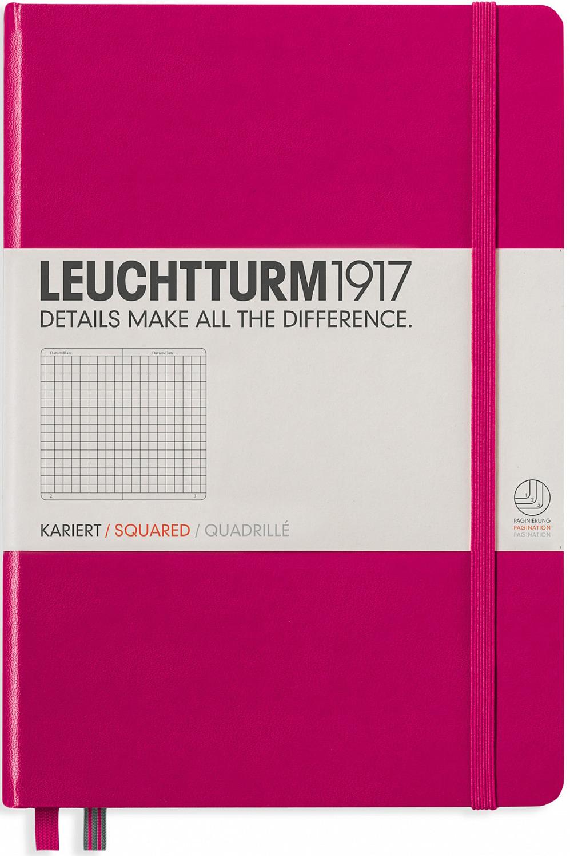 Записная книжка Leuchtturm1917, 344808, фуксия, A5 (148 x 210 мм), в точку, 125 листов