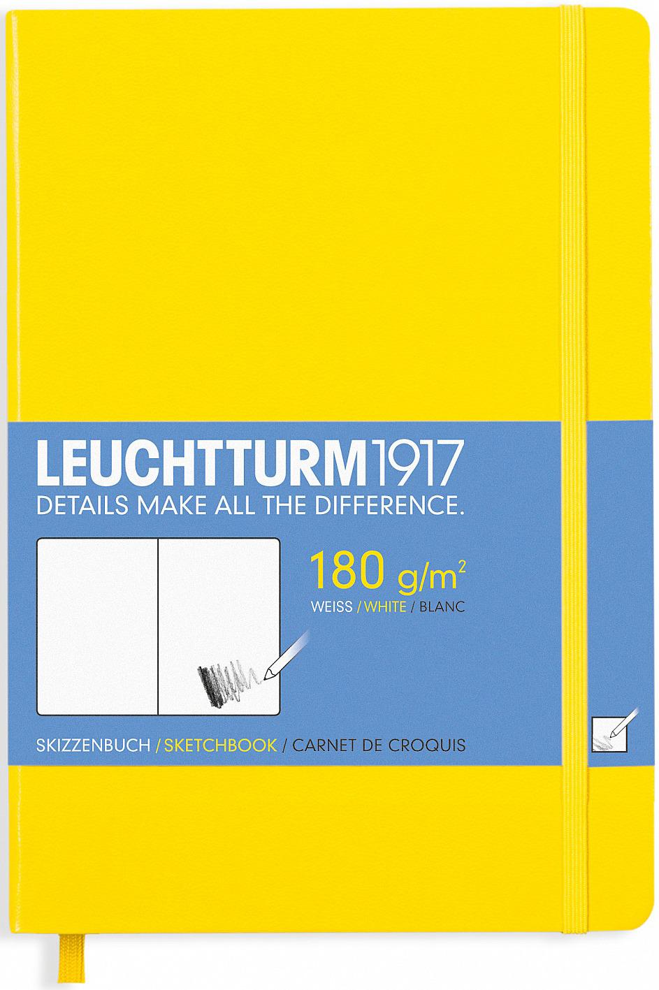 Записная книжка Leuchtturm1917, 344995, желтый, A5 (148 x 210 мм), без разметки, 48 листов