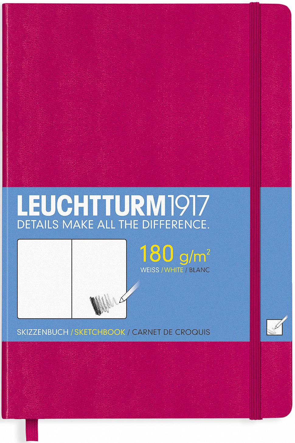 Скетчбук Leuchtturm1917, 344996, фуксия, A5 (148 x 210 мм), без разметки, 48 листов