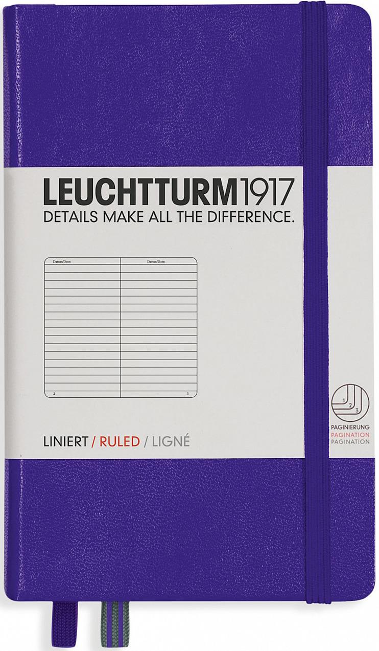 Записная книжка Leuchtturm1917, 346681, сиреневый, A6 (105 x 148 мм), в клетку, 92 листа