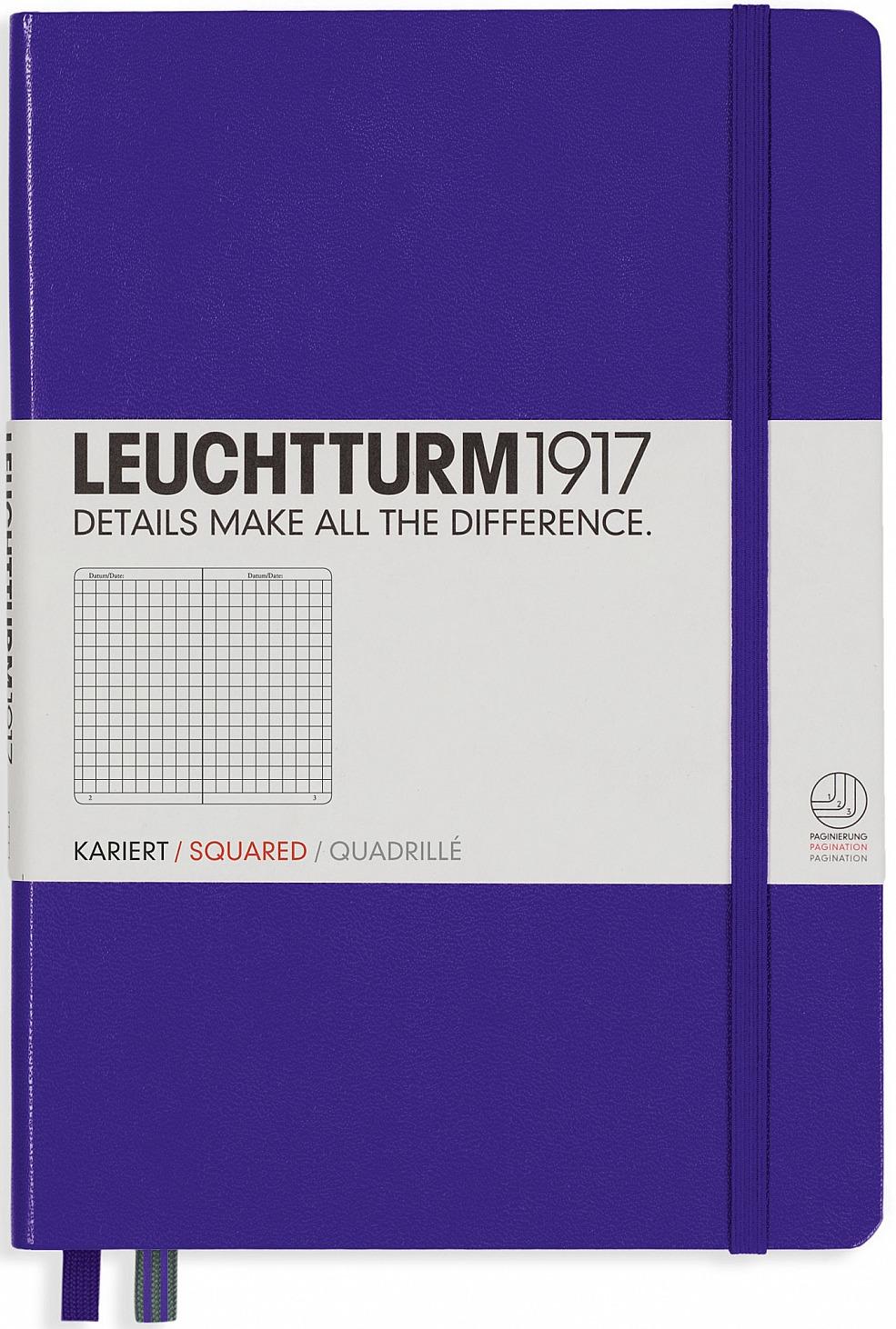 Записная книжка Leuchtturm1917, 346686, сиреневый, A5 (148 x 210 мм), в клетку, 125 листов