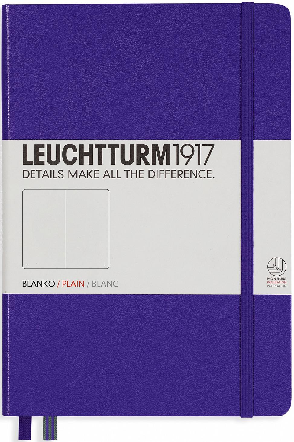 Записная книжка Leuchtturm1917, 346688, сиреневый, A5 (148 x 210 мм), без разметки, 126 листов