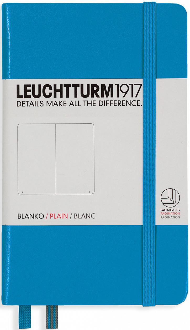 Записная книжка Leuchtturm1917, 346692, лазурный, A6 (105 x 148 мм), в точку, 92 листа