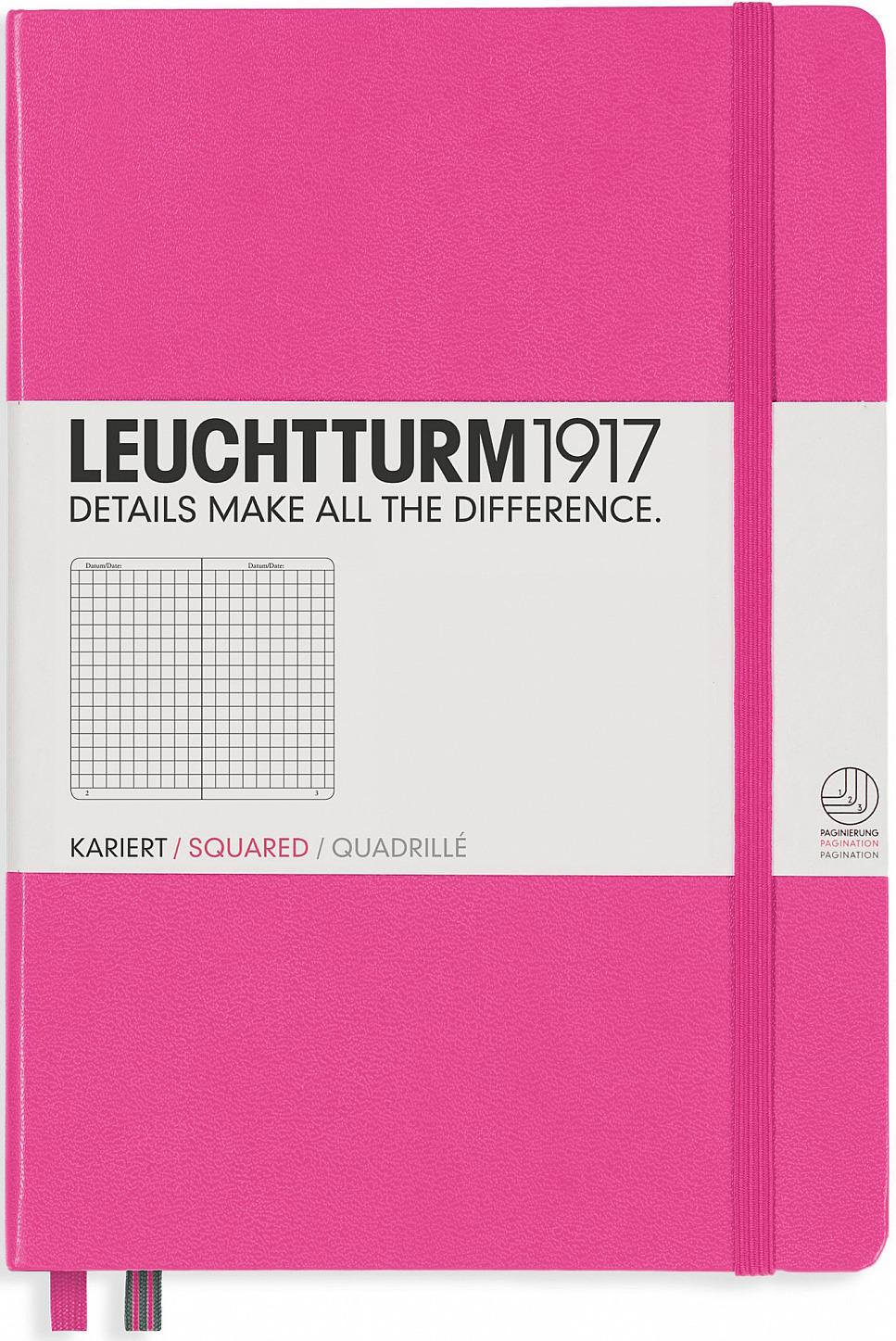 Записная книжка Leuchtturm1917, 348110, розовый, A5 (148 x 210 мм), в точку, 125 листов