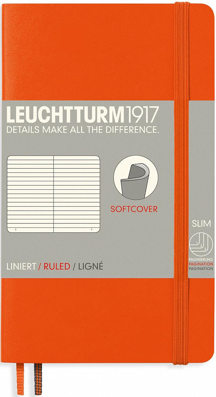 Записная книжка Leuchtturm1917, 349280, оранжевый, A6 (105 x 148 мм), , 60 листов