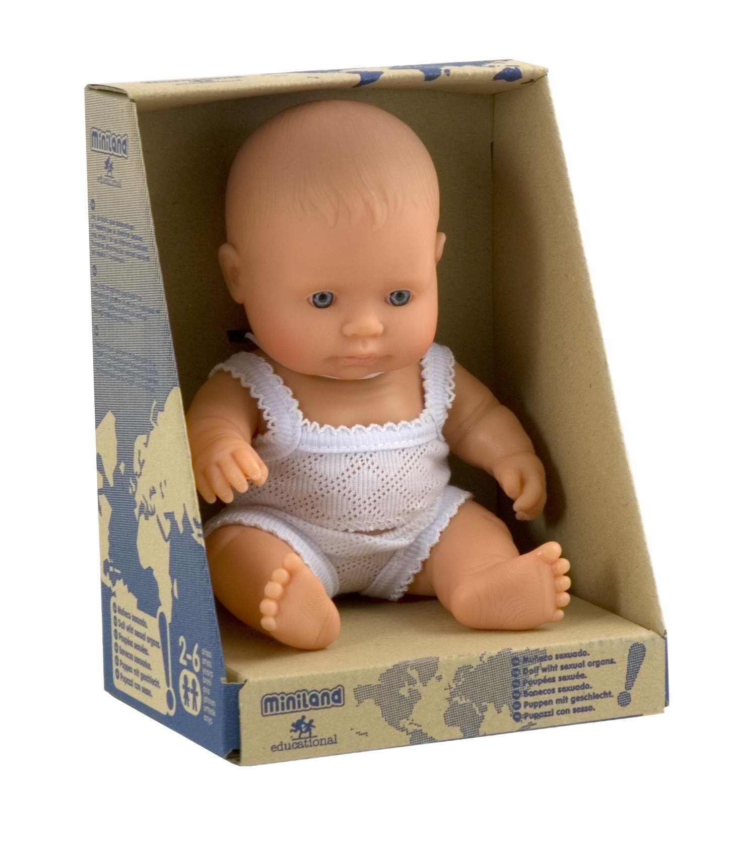 Кукла Девочка европейка 21 см
