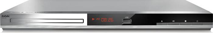 Плеер DVD BBK DVP036S серебристый Караоке ПДУ проигрыватель dvd bbk dvp036s караоке серый черный