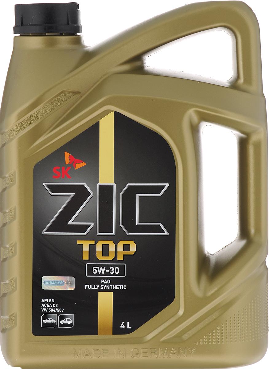 Моторное масло ZIC Top, синтетическое, 5W-30, 4 л