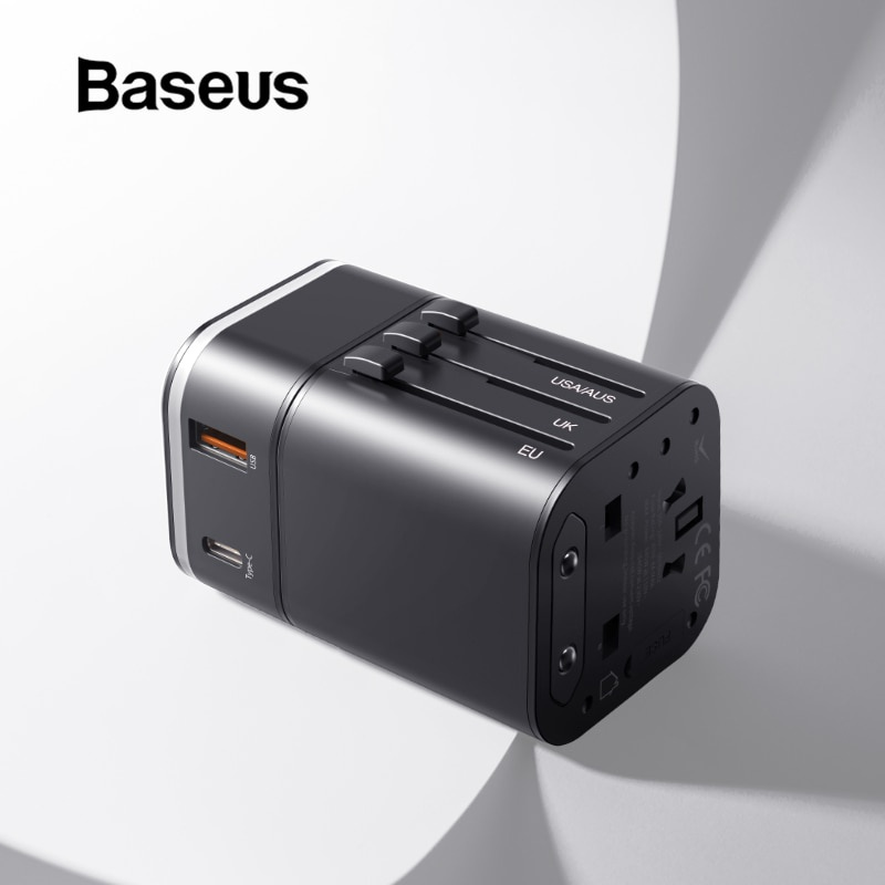Зарядное устройство Baseus USB-зарядное устройство для путешестьвий, черный ozuko multi functional men backpack waterproof usb charge computer backpacks 15inch laptop bag creative student school bags 2018