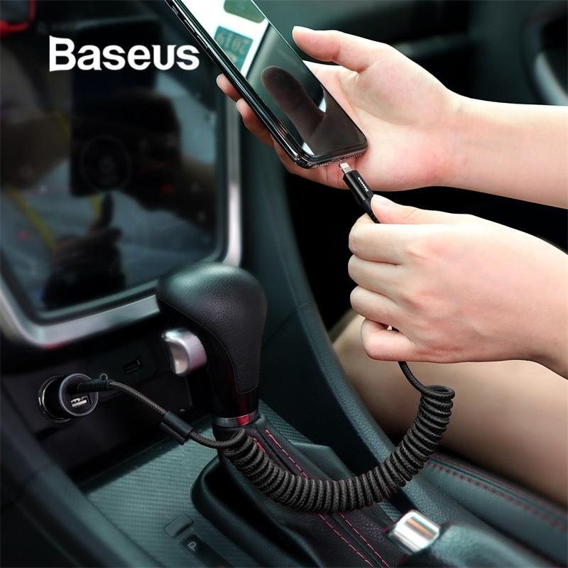 Фото - Автомобильное зарядное устройство Baseus USB-кабель для автомобильного зарядного устройства, красный кабели для телефонов