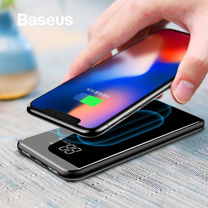 Фото - Беспроводное зарядное устройство Baseus 8000 мАч, черный беспроводное зарядное устройство baseus зарядное устройство power bank 10000 мач синий
