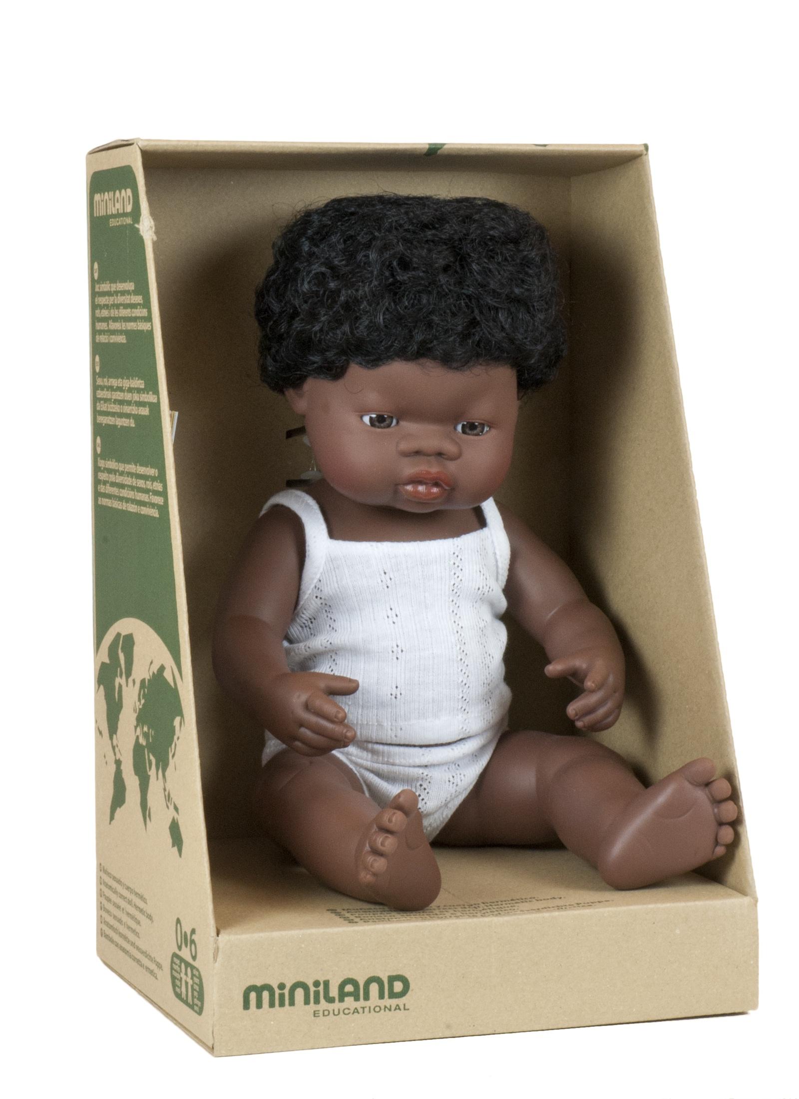 Кукла Девочка африканка 38 см